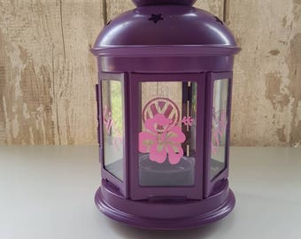 One life live it, be, hibiscus, lantern, hippy, tealight holder, night light, camping, home decor