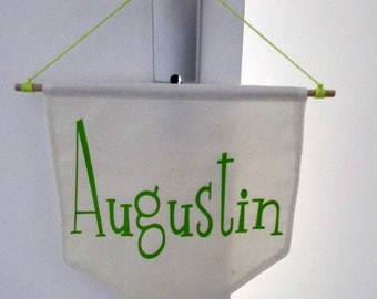Decorative flag banner with name or phrase/quote / personalized
