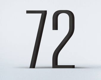 Flat Cut Acrylic House Numbers-Tungsten