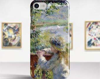 "Pierre-Auguste Renoir, ""By the Water"". iPhone 6 Case Art iPhone 7 Case iPhone 8 Plus Case and more. iPhone 6 TOUGH cases. Art iphone cases."