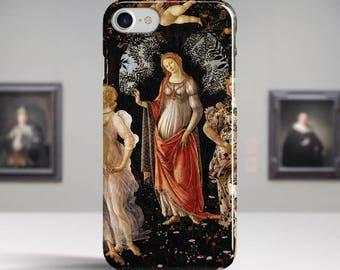 """Sandro Botticelli, """"Primavera"""". iPhone 6 Case Art iPhone 7 Case iPhone 8 Plus Case and more. iPhone 6 TOUGH cases. Art iphone cases."""
