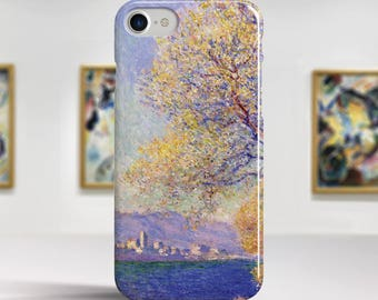 "Claude Monet, ""Antibes Seen from..."". iPhone 7 Case Art iPhone 6 Case iPhone 8 Plus Case and more. iPhone 7 TOUGH cases. Art iphone cases."