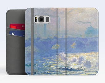 "Claude Monet, ""Waterloo Bridge"". Samsung Galaxy S8 Wallet case. Samsung S7 wallet case. Samsung S6 wallet case. iPhone Wallet cases."