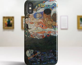 "Gustav Klimt ""Life and Death"" iPhone X Case Art iPhone 8 Case iPhone 7 Plus Case iPhone 8 Plus Case iPhone X TOUGH cases. Art iPhone cases."