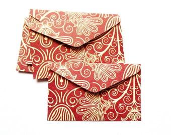 set of 5 mini envelopes 6, 5x4cm floral Z35