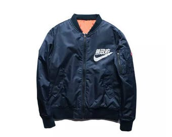 MA-1 Air Tokyo Lightweight Flight Jacket in Red Green Blue and Black