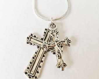 Rustic Cross Necklace