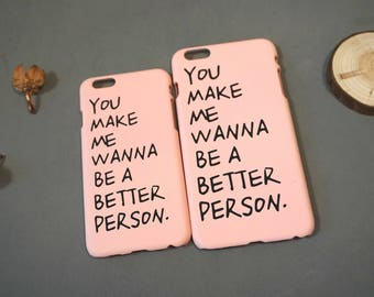 You made me wanna be a better person, Postive iPhone 6s case, iPhone 6 case, iPhone 6 cover, Cute iPhone 6 case, Snoopy iphone 6 case