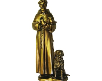St. Francis of Assisi Statue  with dog