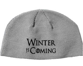 Game of Thrones GOT Winter is Coming Khaleesi House Beanie Knitted Hat Cap Winter Clothes Horror Merch Massacre Christmas Black Friday
