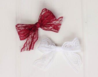 W18 - Darla bows - Hair Bows, Grip clips, Headbands, baby bows, Lace Bows