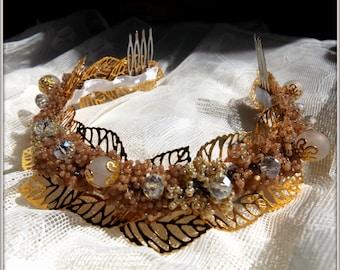 Beautiful beaded hair accessory for queen, tiara