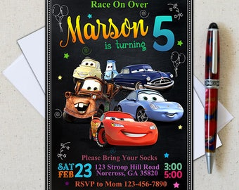Disney Cars Invitation/Disney Cars Birthday Invitation/Lightning McQueen Invitation/Disney Cars Party/Disney Cars Printable/Disney Cars Card