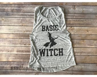 Basic witch tank top | basic witch shirt | basic witch | halloween shirt | halloween tank top | Witch tank top | Witch shirt |