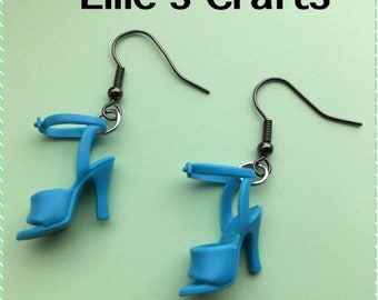 Novelty Barbie shoe drop earrings Kawaii