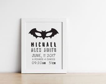 Personalised birth announcement prints