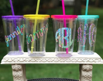 Monogrammed Tumbler, Custom Tumbler,Personalized Tumbler,Bachelorette Party,Bridesmaid Gift,Sorority,College Gift, Gifts for Her