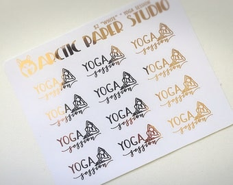 Yoga Session - Functional Icons - FOILED Sampler Event Icons Planner Stickers