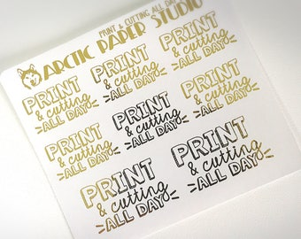 Print & Cutting All Day (HW) - FOILED Sampler Event Icons Planner Stickers
