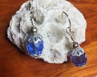 Sky Bloom Sterling Silver Dangle Earrings