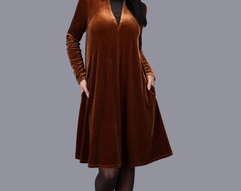 Georgious Velour Dress/ With Mesh Details/ Elegant/ Handmade Dress/ SphinxDesign.lt