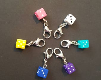 Lucky Dice Stitch Markers
