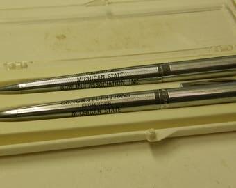 Michigan State Bowling Award Wingamatic Pen & Pencil Set