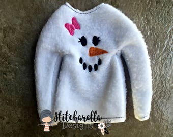 Snow Girl Elf on Shelf Sweater