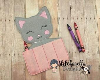 Kitty Crayon Holder