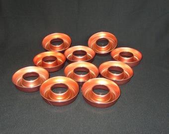 Vintage Set of 10 Mini-Copper Molds, For Bundt Cake, Jell-O, or Rice