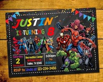superhero invitation