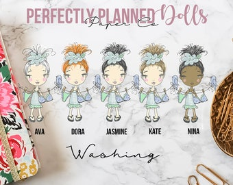 011 | Washing | Planner Dolls // Character Planner Stickers