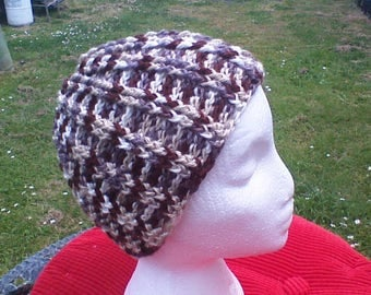 Brown Camo Ribbed Hat