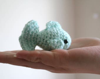 Crocheted Amigurumi Catnip Fish Cat Toy