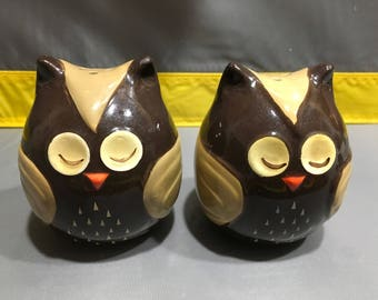 Owl salt and pepper