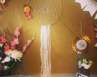 Gold and Lace Dreamcatcher--Multiple Sizes Available
