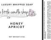 Custom Order - 10 Honey Apricot Whipped Soap, 5 Honey Apple Champagne, 5 Apricot Fig Whipped Soaps