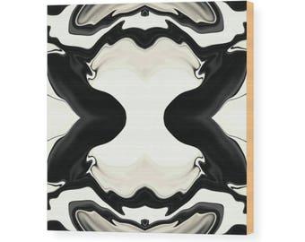 MONO CREAM   Wood Print