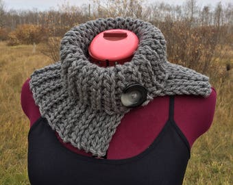 Knit Cowl, Knit Cowl Scarf, Chunky Cowl Scarf, Neck Warmer, Winter Cowl, Chunky Knit Cowl, Crochet Cowl, Crochet Scarf