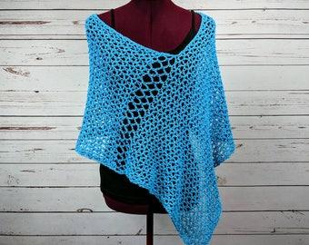 Poncho Women, Womens Poncho, Summer Poncho, Poncho, Crochet Poncho, Shawl, Knit Poncho, Spring Poncho, Light Cotton Poncho