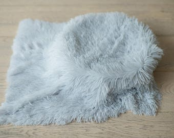 Newborn Photography Blanket , Photo props Newborn baby , Newborn Faux Fur Photo props , Newborn Mini Blanket , Newborn Basket Stuffer Fur