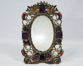 Vintage Mexican Silver Picture Frame