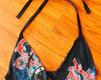 Vintage Ozzy Osbourne metal babe bikini top or bralette