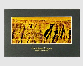 The Grand Canyon Gold foil Print