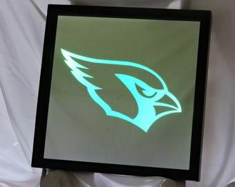 Arizona Cardinals LED Remote Controlled Mirror
