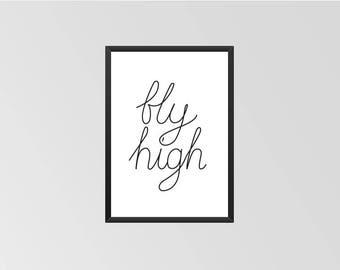 Fly High - Print (Black & White)