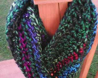 Jewels of Winter infinity scarf