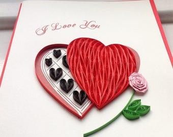 Heart of Love Card, Sweet Heart Card/L005, L006, L007