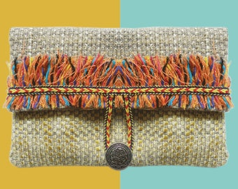 Fringed pouch