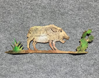 Javelina With Prickly Pear